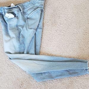 old navy light wash jeans